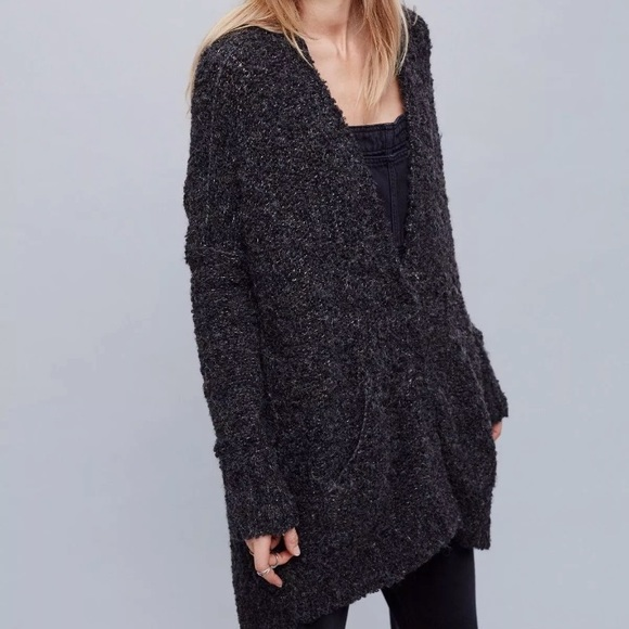 d88d79868 Free People Sweaters - Free People oversized gray boucle sweater slouchy